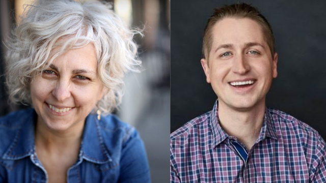 Kate DiCamillo and John Schumacher