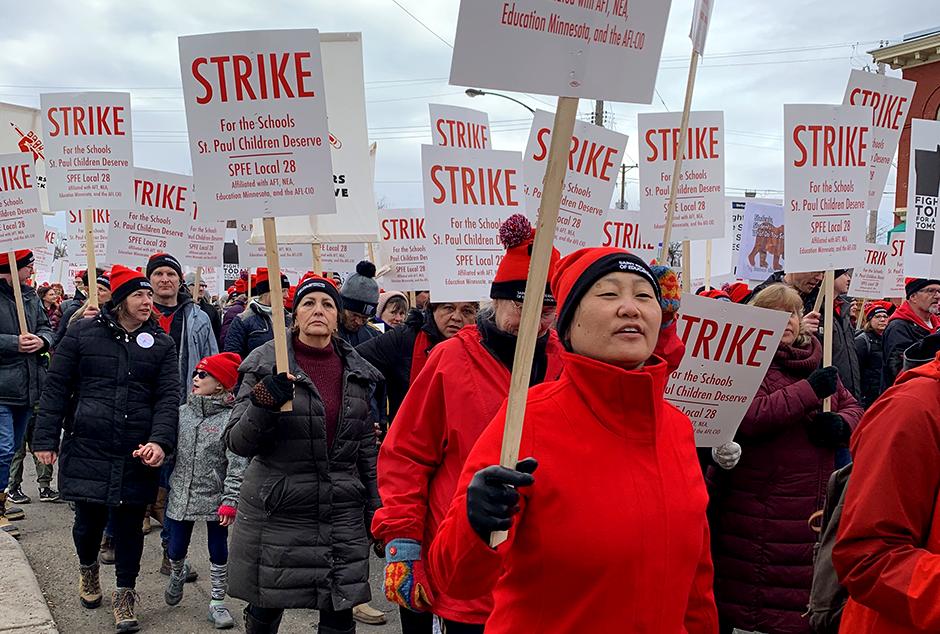 St. Paul Public School teachers strike