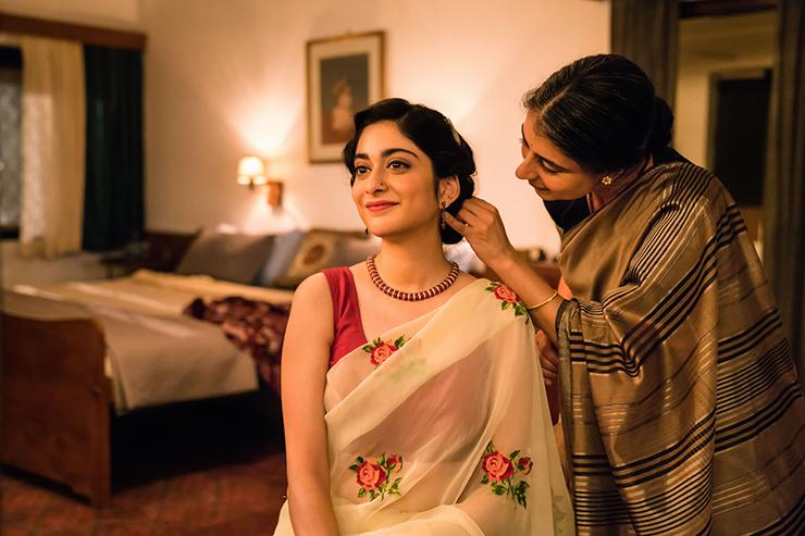 "Tanya Maniktala and Mahira Kakkar in a scene from ""A Suitable Boy."""