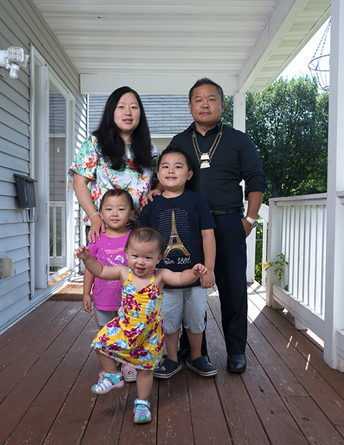 St. Paul City Council Member Dai Thao and family