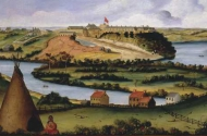 painting of pike island