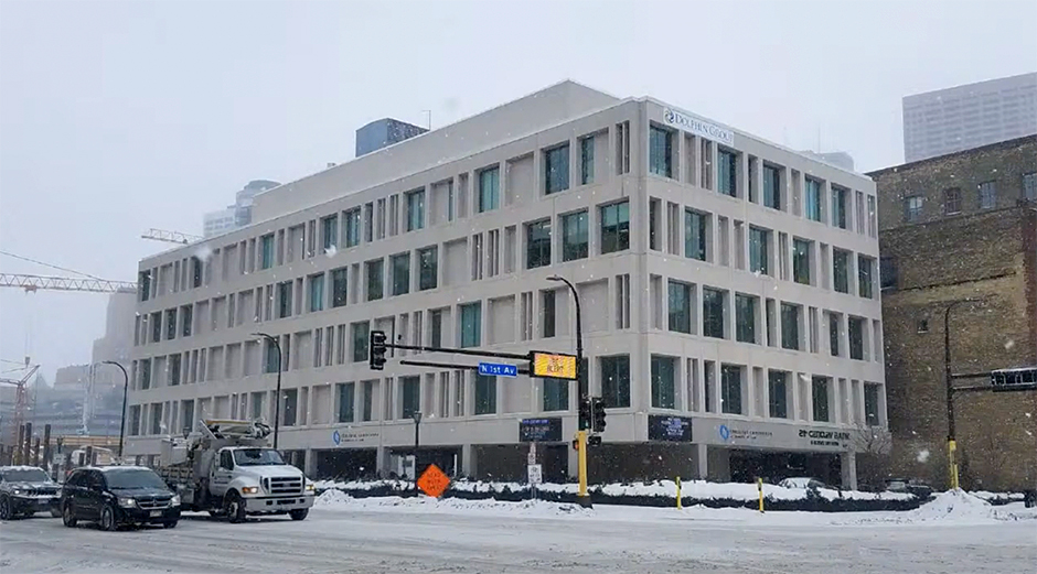 21 Washington was originally built as the headquarters of the Knutson Construction Company, a firm that was known for building parking ramps.