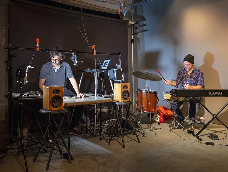"""Alec Soth and Dave King rehearsing for """"The Palms."""""""