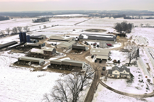 Darian Acres dairy farm in Rio, Wisconsin, in a December 20, 2020 photo.
