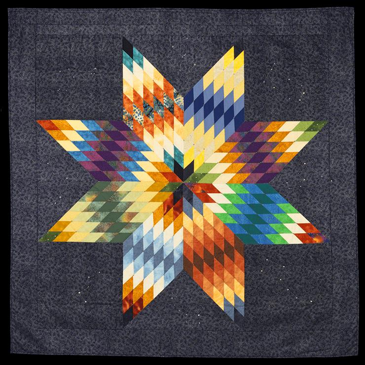 'Star Knowledge' star quilt by Gwen Westerman, Sisseton Wahpeton Oyate (Dakota), 2014
