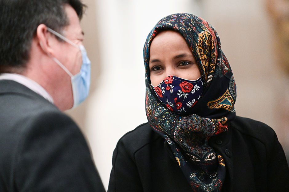 Rep. Ilhan Omar at the U.S. Capitol in a photo from December 8, 2020.