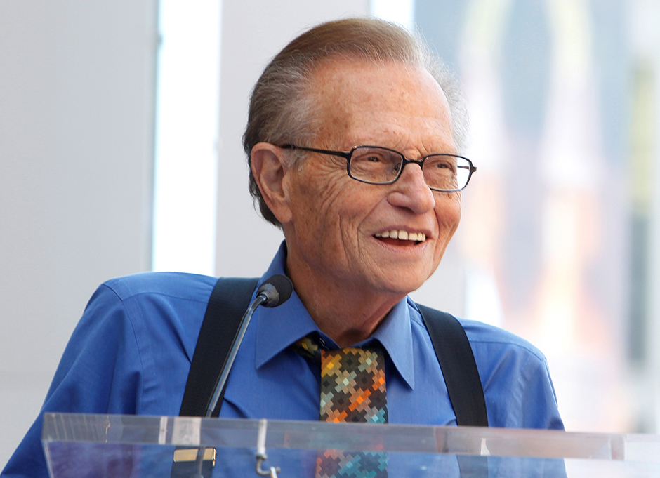 Talk show host Larry King shown in a photo from 2010.