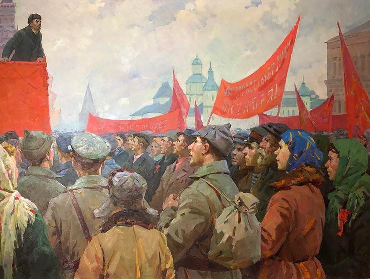 Vadim Odainik and Zoia Odainik-Samoilenko, 'V. Lenin Makes a Speech on Red Square,' 1960s