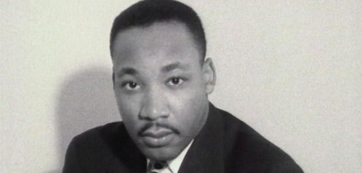 "A still from ""MLK/FBI."""