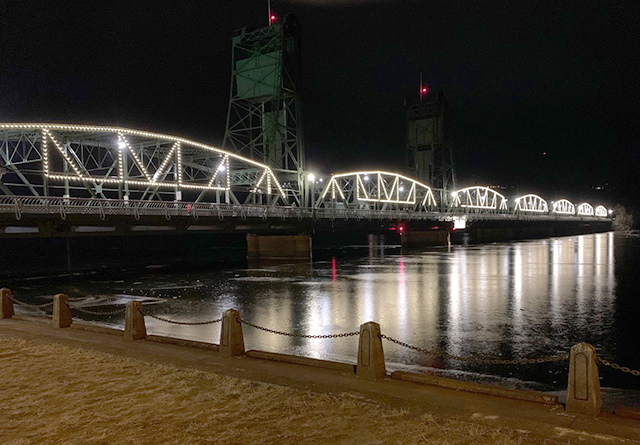 The newly re-opened Stillwater Lift Bridge, a popular walking spot during the pandemic.