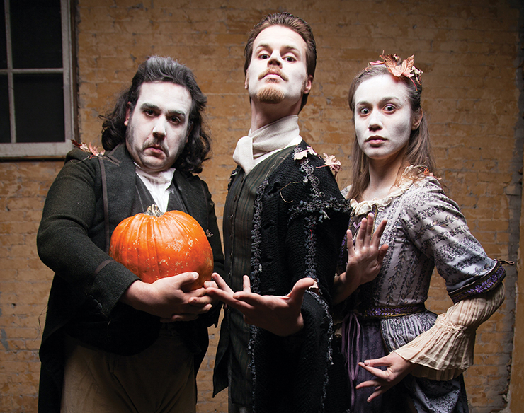 """Brant Miller, Joanna Harmon and Ryan Lear in """"The Legend of Sleepy Hollow."""""""