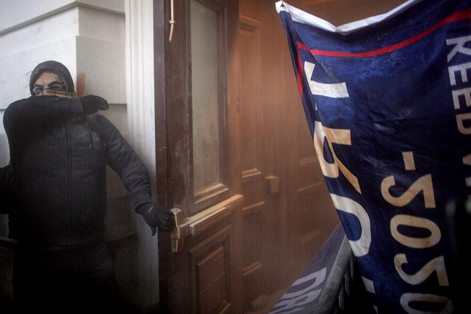 A scene from the riot at the U.S. Capitol Building on Wednesday.