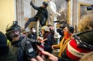pro-Trump rioters storming the U.S. Capitol