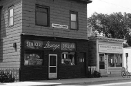 historic photo of storefronts in southside neighborhood