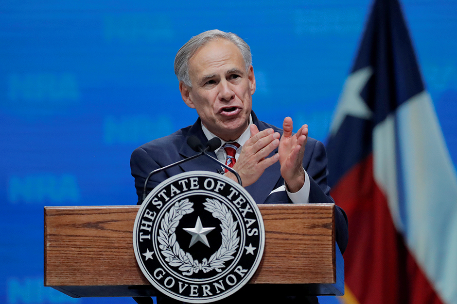 Texas Gov. Greg Abbott shown in a photo from 2018.