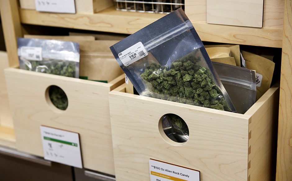 Marijuana for sale at Harborside, one of California's largest and oldest dispensaries.