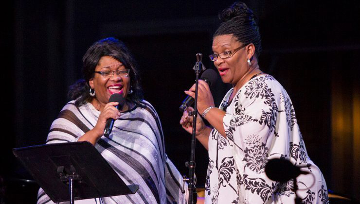 "Jearlyn Steele and Jevetta Steele begin a three-part series, ""Songs of Healing, Peace and Joy,"" each performance streamed live from the Dakota stage."