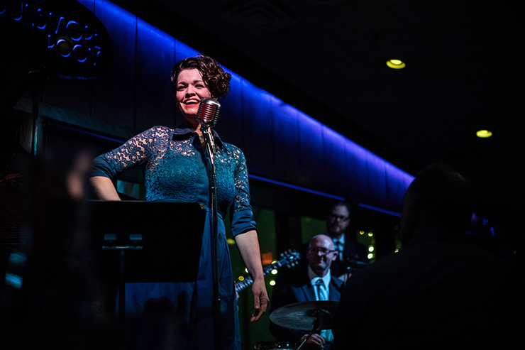 Joyann Parker shown performing her Patsy Cline tribute at Crooners.