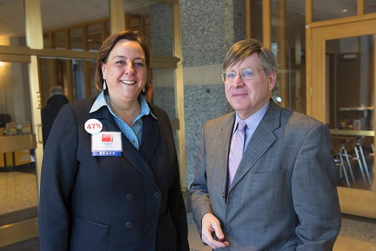 Sheila Smith, state Sen. Dick Cohen