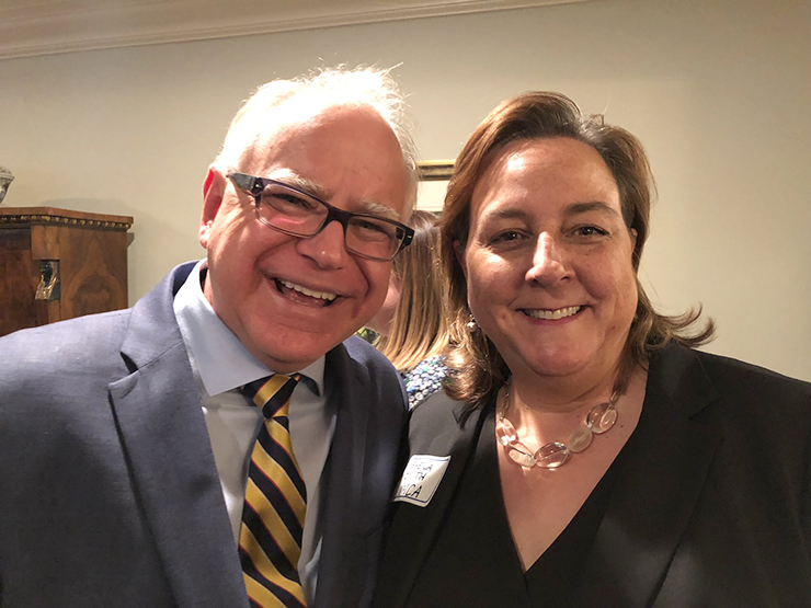 """Sheila Smith: """"I have really admired Governor Walz's approach to the coronavirus crisis. He's been put in a really tough spot, and nobody could be perfect in that role, but he's trying to keep people from dying and should get a lot of credit for that."""""""