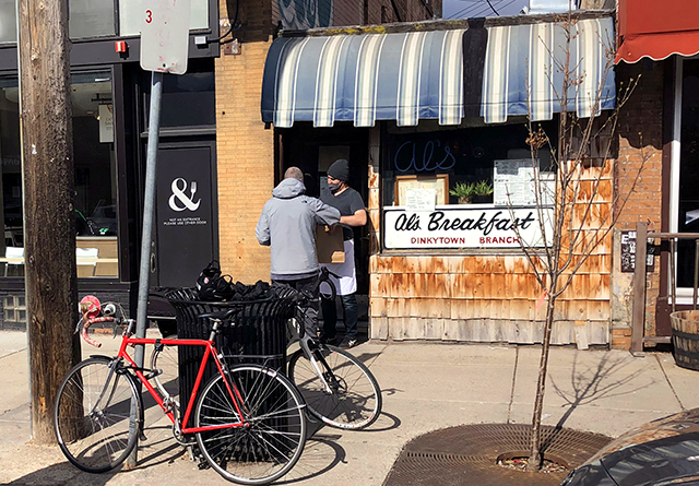A slow-but-steady takeout service keeps the doors to Al's Breakfast open.