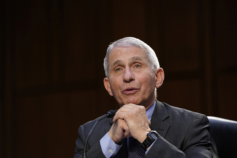 """Dr. Anthony Fauci: """"Get vaccinated when you are eligible, continue to wear a mask, and socially distance when out in public."""""""