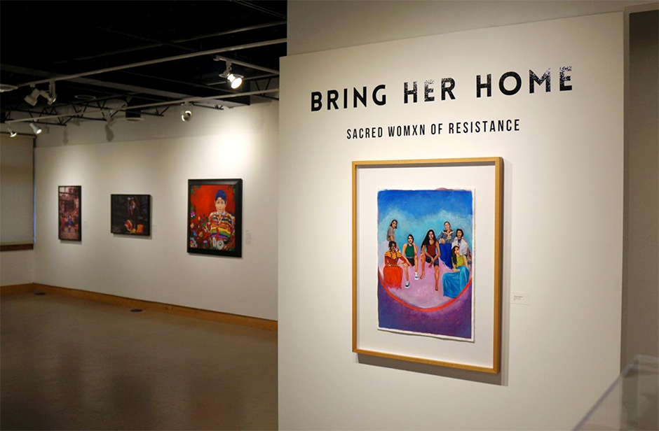 """The """"Bring Her Home"""" exhibit opened at All My Relations in October 2020."""
