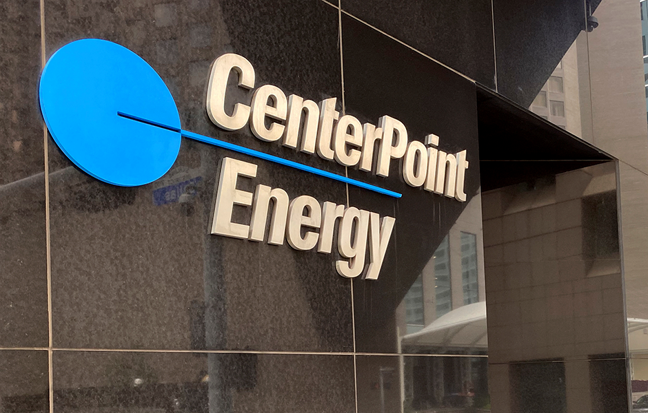 The headquarters of natural gas and power utility CenterPoint Energy in Houston, Texas.