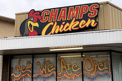 Champs Chicken, north Minneapolis