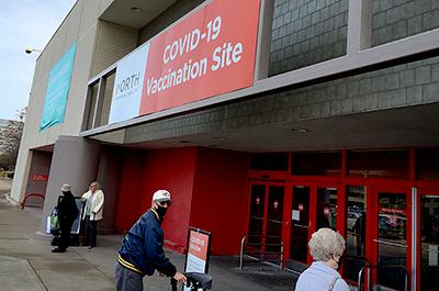 North Memorial COVID vaccination site, Brooklyn Center