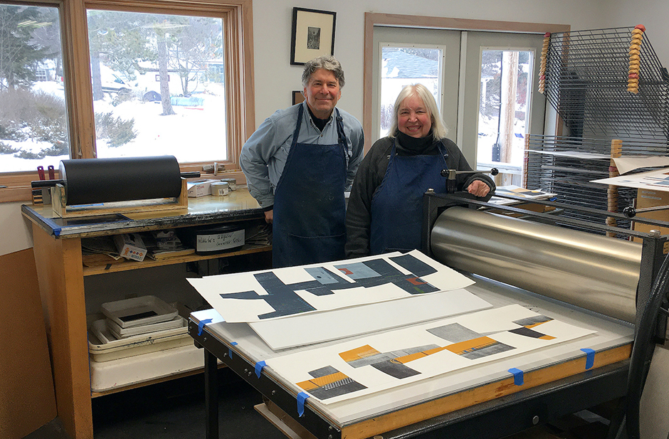 Dan and Lee Ross, sculptors and printmakers, have been creating art together for 45 years.