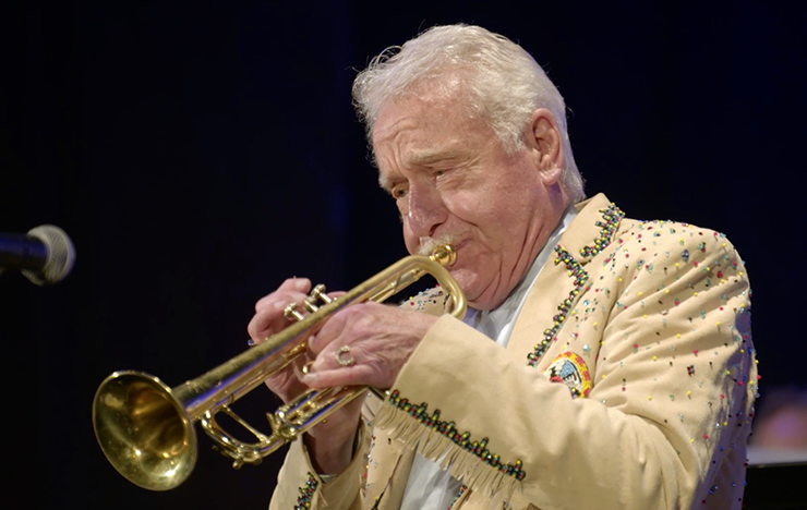"""A scene from """"Never Too Late: The Doc Severinsen Story."""""""