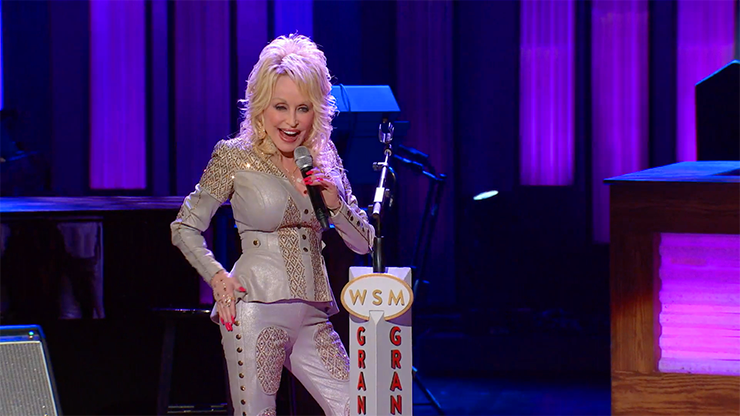 "A scene from ""Dolly Parton and Friends: 50 Years at the Grand Ol' Opry."""
