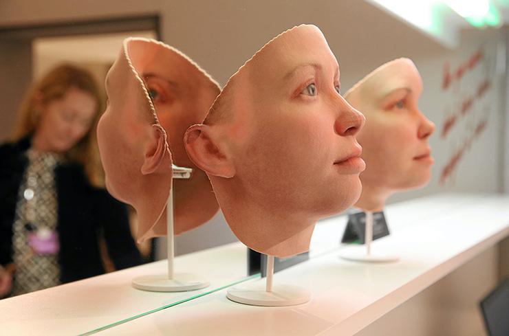 "Heather Dewey-Hagborg, ""Radical Love: Chelsea Manning,"" 2015"