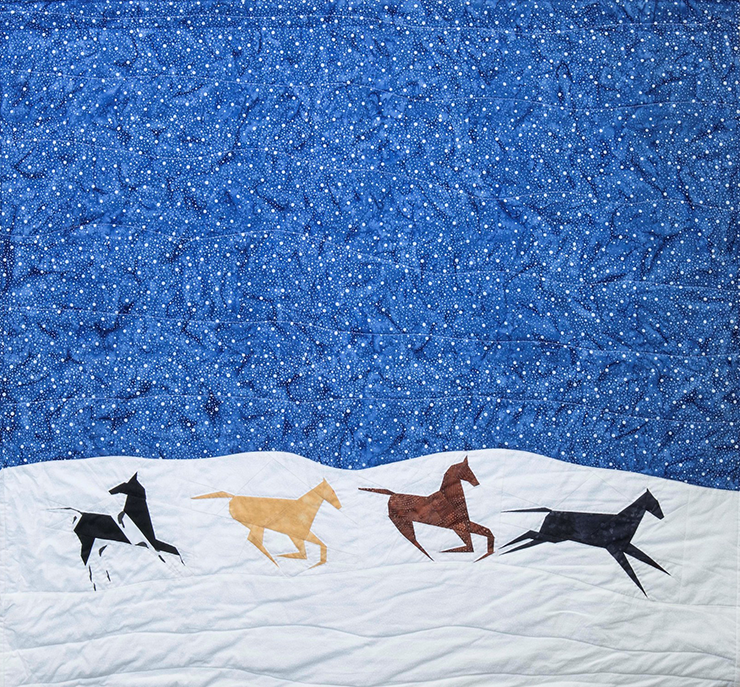 Gwen Westerman, Return to Crow Creek, 2015, 100% commercial cotton, 40 x 41 ½ inches