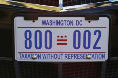 photo of washington dc license plate