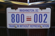 photo of washington dc license plate