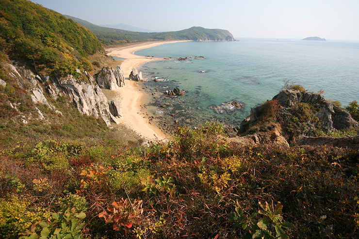 The coast of Primorye in Russia's Far East, where Jonathan Slaght would rather be.