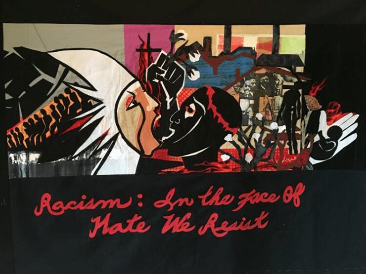 """Viola Burley Leak, """"Racism: In the face of hate we resist"""""""