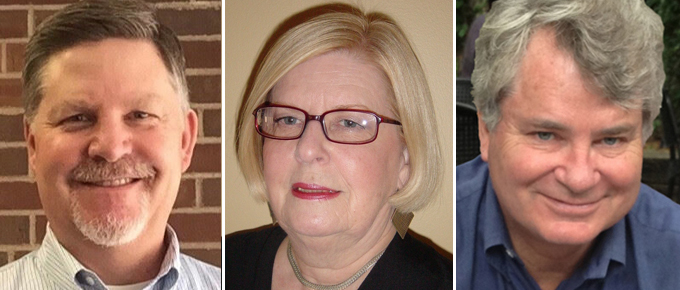 Steve Houtz, Doris Pagelkopf, and Jon Pratt