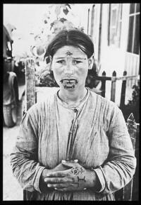 Armenian woman, tattooed in captivity, circa 1920s.