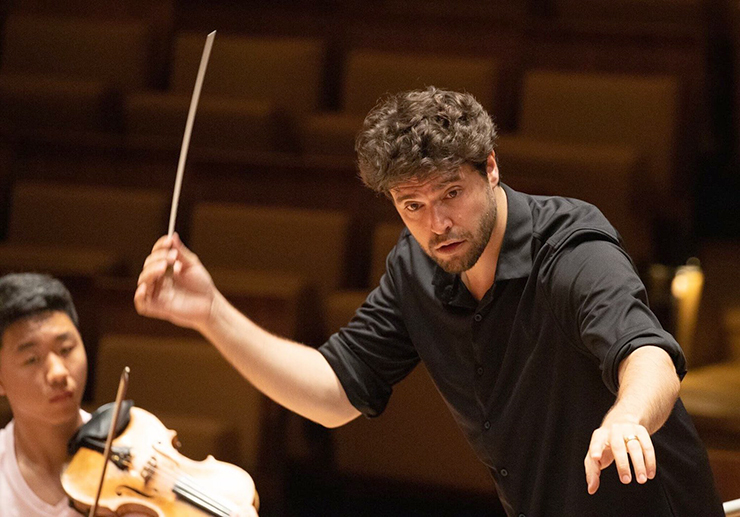 The Lakes Area Music Festival's new music director, Christian Reif.
