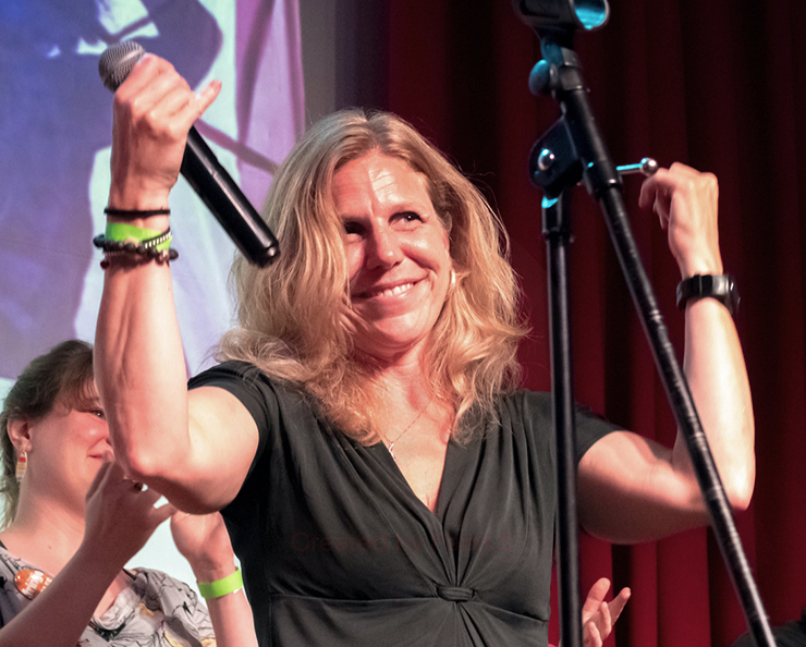 Dawn Bentley shown at the 2019 Minnesota Fringe closing night party.