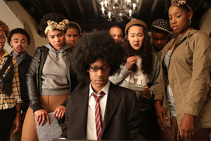 "Naomi Ko, center right, in ""Dear White People."""