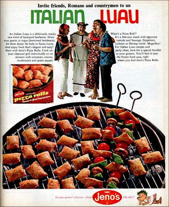 Jeno's Pizza Rolls ad, 1960s -1970s