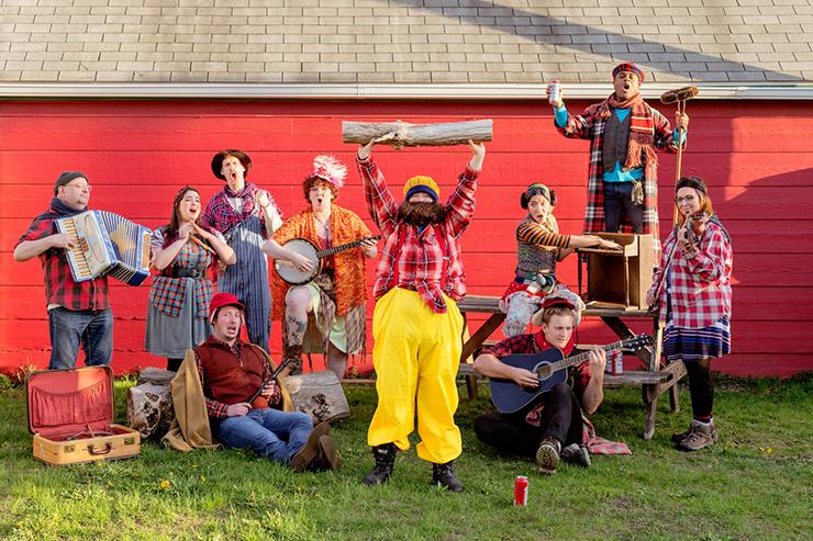 """The cast of """"LOG JAM! A Paul Bunyan Musical Spectacular."""""""