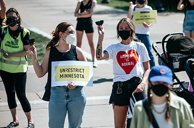 An abortion rights rally in Minnesota.