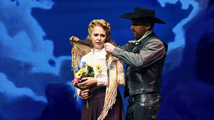 """A scene from """"Riders of the Purple Sage: The Making of a Western Opera."""""""