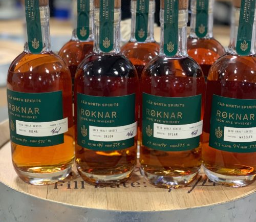 Each single barrel in the study contained different aging aggregates.  In 2019 and 2020, the so-called Seed Volt series, like Rocknar, was released 100%.