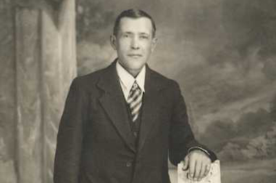 historic photo of august ruther